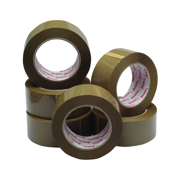 Polypropylene Packaging Tape 50mm x 132m Brown (6 Pack) HPPB-480132-25