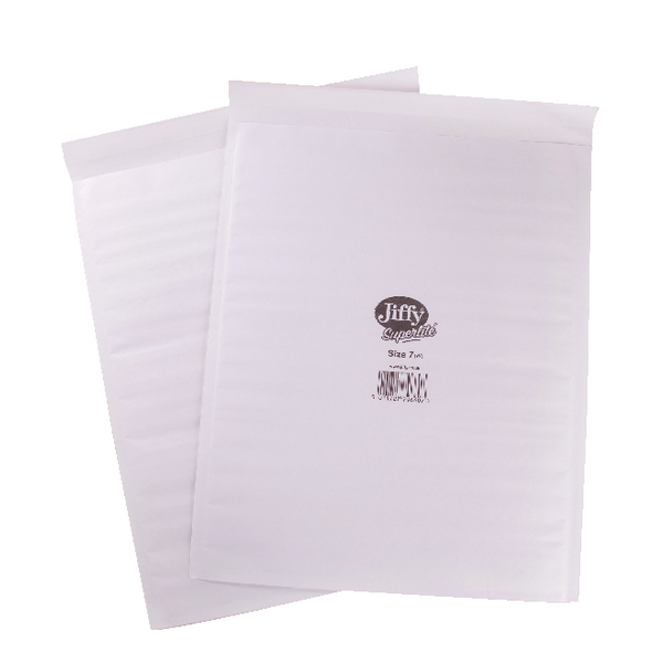 Jiffy Superlite Size 7 340 x 435mm White Foam Lined Mailer (100 Pack) MBSL02807