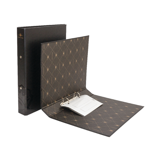 Concord Noir Black A4 Ring Binder 8316-NOI