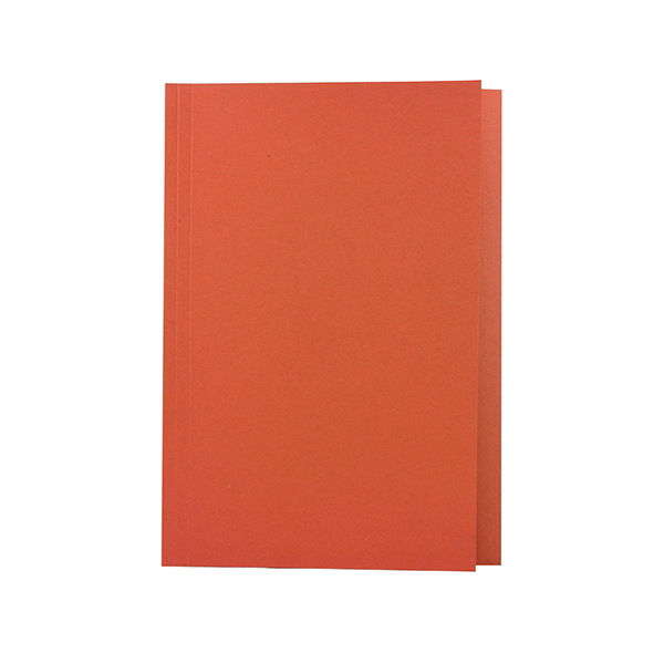 Guildhall Foolscap Orange Mediumweight Square Cut Folder (100 Pack) 43206