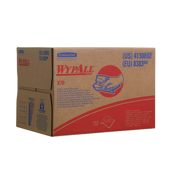 Wypall X70 Wipers Box 1-Ply White (150 Pack) 8383