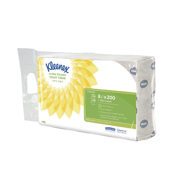 Kleenex Ultra Toilet Tissue Bulk Pack 2-Ply White 200 Sheets (8 Pack) 8488