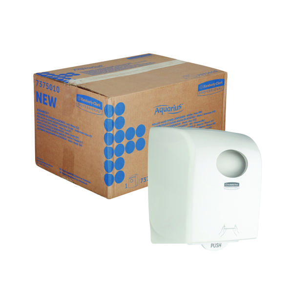Aquarius Rolled Hand Towel Dispenser White 7375