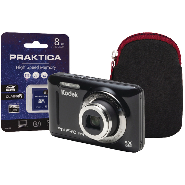 Kodak PixPro FZ53 Camera Plus 8gb Card and Case