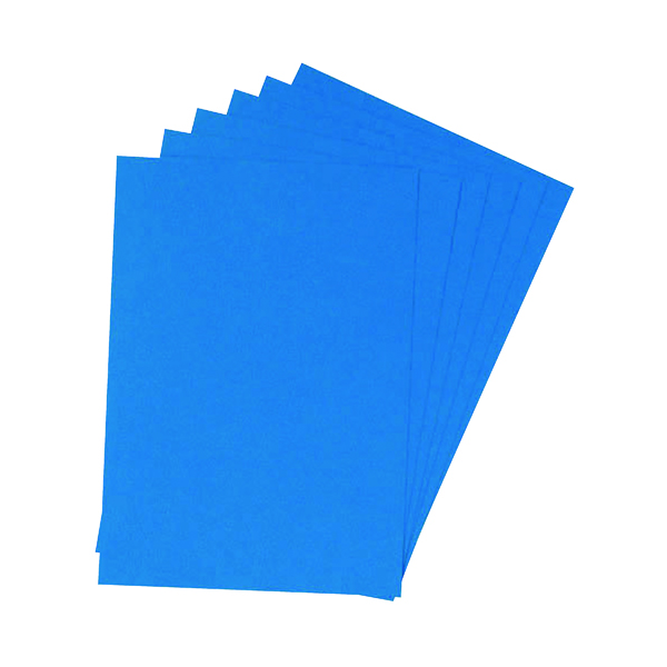Q-Connect A4 Blue Leathergrain Comb Binder Cover (100 Pack) KF00500