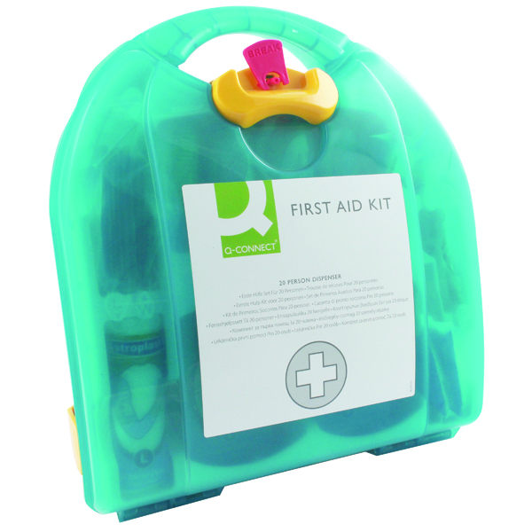 Q-Connect 20 Person Wall-Mountable First Aid Kit KF00576