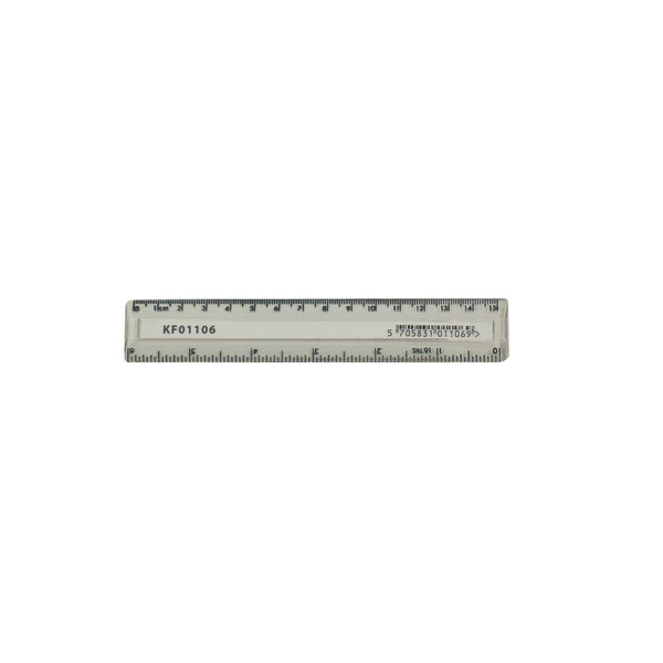 Q-Connect Clear Ruler 15cm (10 Pack) KF01106Q