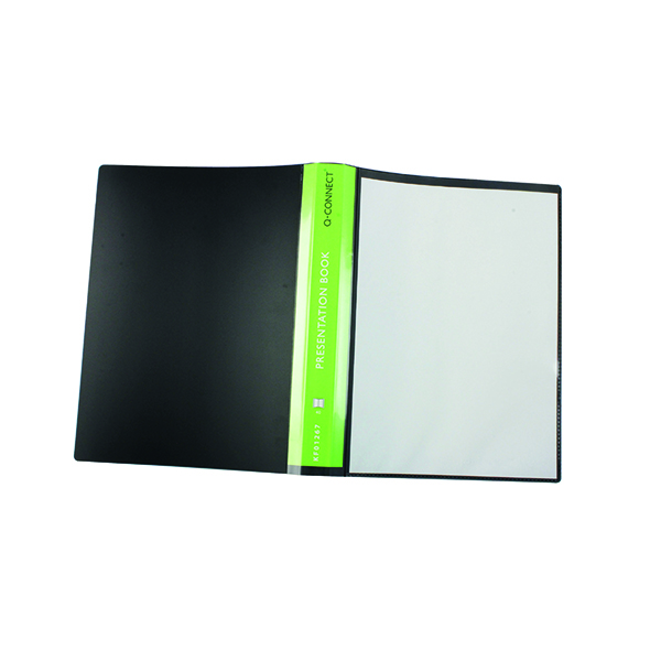 Q-Connect Presentation Display Book 40 Pocket A4 Black KF01267