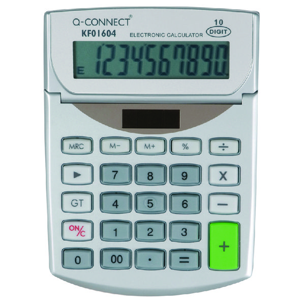 Q-Connect Semi-Desktop 10-Digit Calculator KF01604