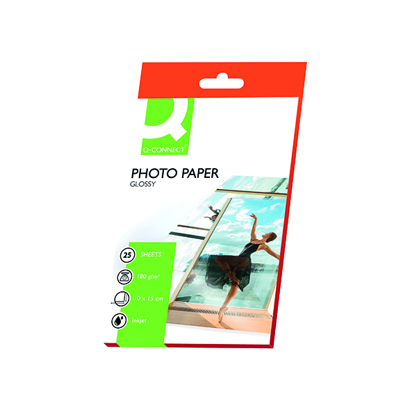 Q-Connect 10x15cm Gloss Photo Paper 180gsm (25 Pack) KF01905