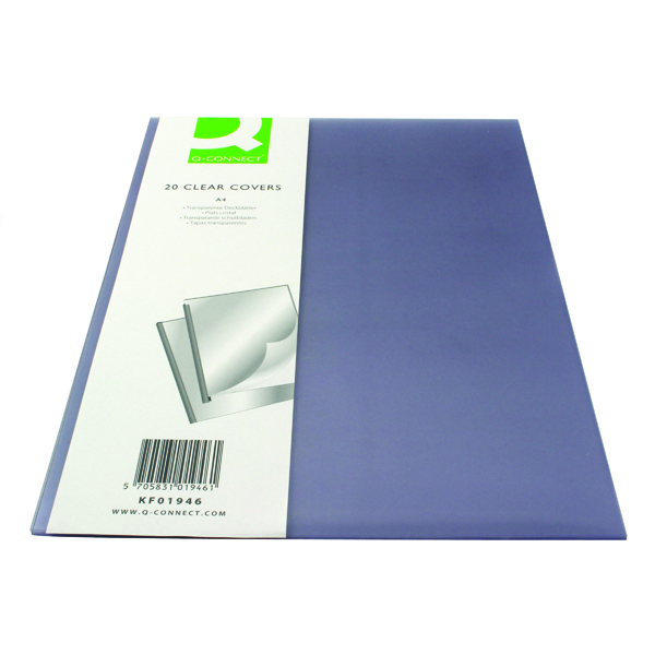 Q-Connect Clear A4 Binding Folder (20 Pack) KF01946
