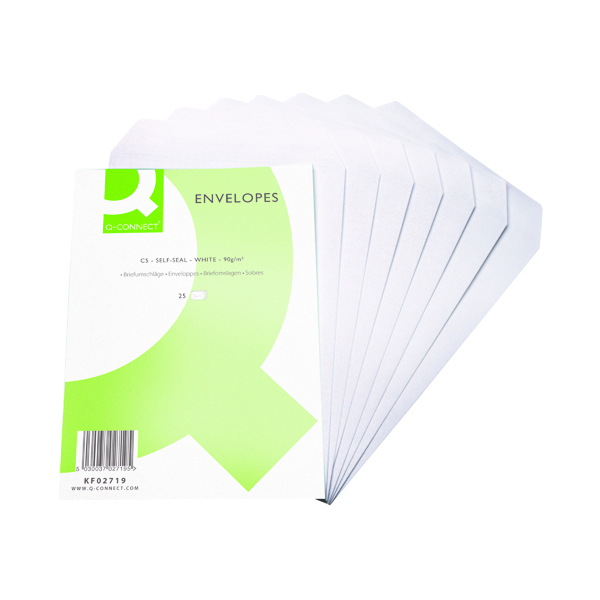 Q-Connect C5 Envelope 90gsm Self Seal White (500 Pack) KF02719