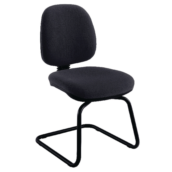 Jemini Charcoal Medium Back Visitor Chair KF02735