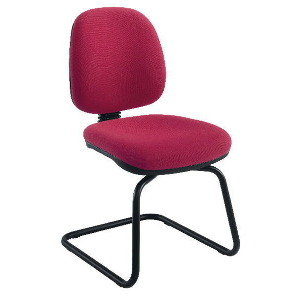 Jemini Medium Back Visitor Claret Chair KF02736