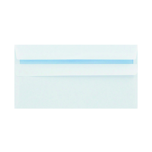 Q-Connect DL Envelope 100gsm Plain Peel and Seal White (500 Pack) 1P04