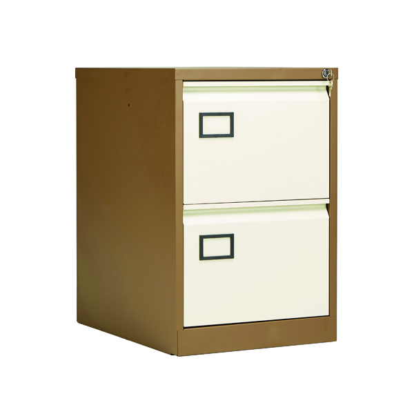 Jemini 2 Drawer Filing Cabinet Coffee/​Cream KF03006