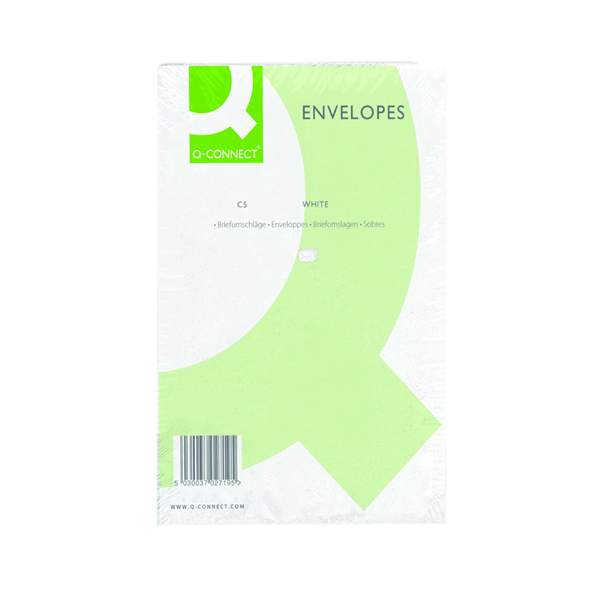 Q-Connect C5 Envelope 100gsm Plain Peel and Seal White (500 Pack) KF03289