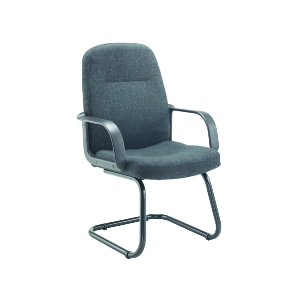 Jemini Visitor Cantilever Leg Chair Charcoal KF03425