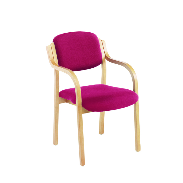 Jemini Wood Frame Side Claret Chair With Arms KF03515