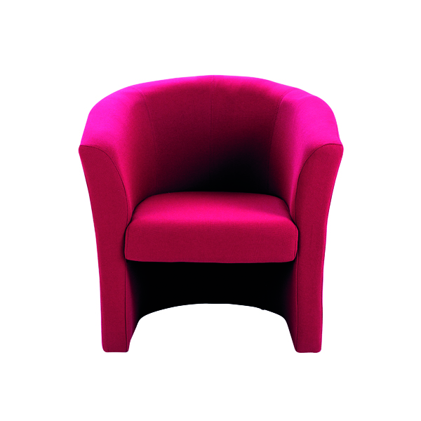 Arista Tub Claret Fabric Chair KF03523