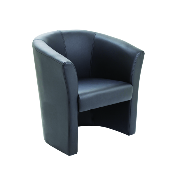 Avior Black Vinyl Tub Chair KF03527