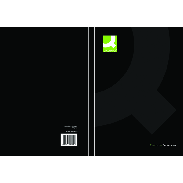 Q-Connect Black A5 Casebound Book (3 Pack) KF03726