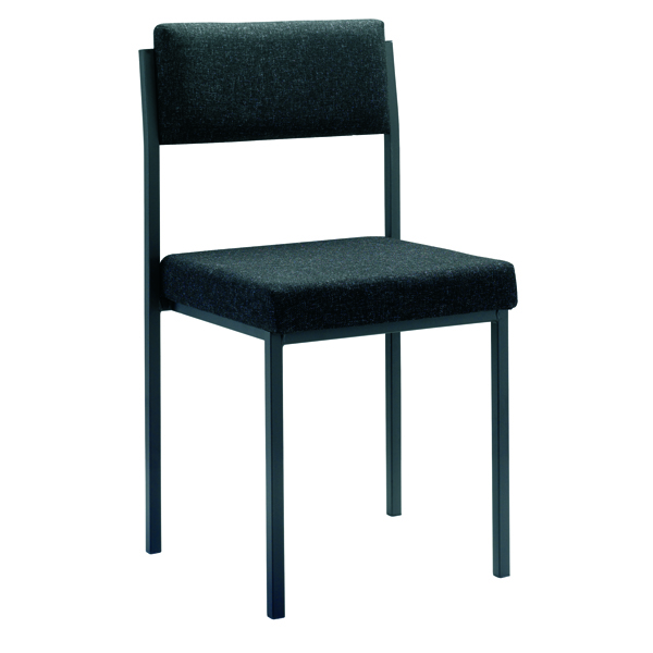 Jemini Charcoal Multi-Purpose Stacking Chair KF04000