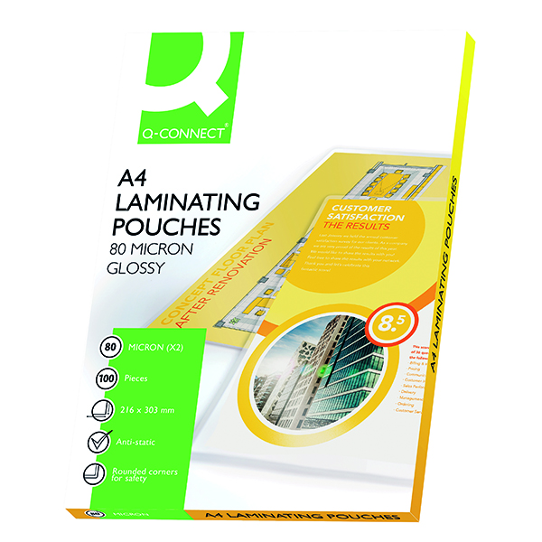 Q-Connect A4 Laminating Pouch 160 Micron (100 Pack) KF04114