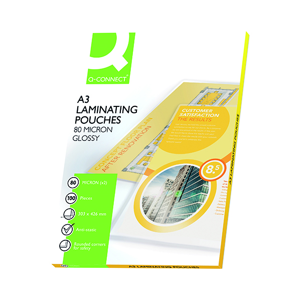 Q-Connect A3 Laminating Pouch 160 Micron (100 Pack) KF04122