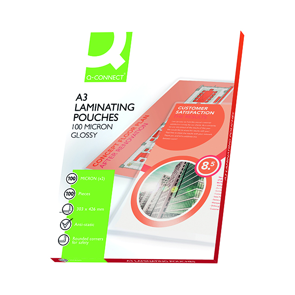 Q-Connect A3 Laminating Pouch 200 Micron (100 Pack) KF04123