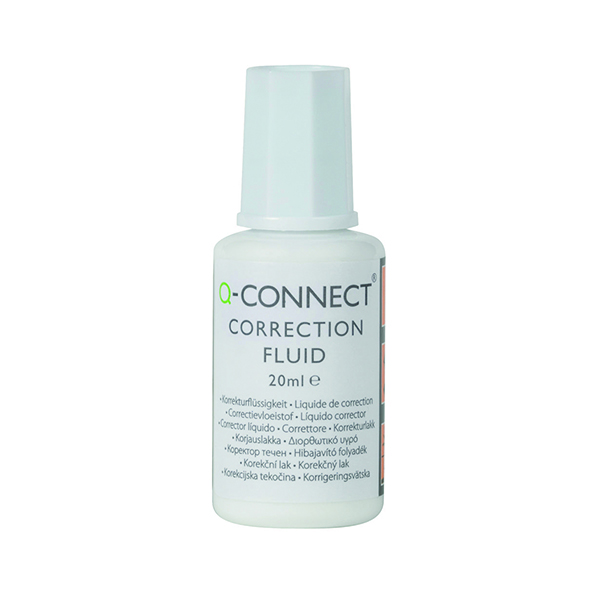 Q-Connect Correction Fluid 20ml (10 Pack) KF10507Q