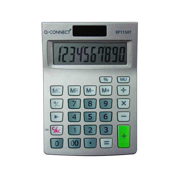 Q-Connect Semi-Desktop 10-Digit Calculator KF11507