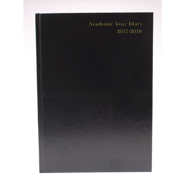 Black 2017/18 A5 Academic Diary Day/Page KF1A5ABK17