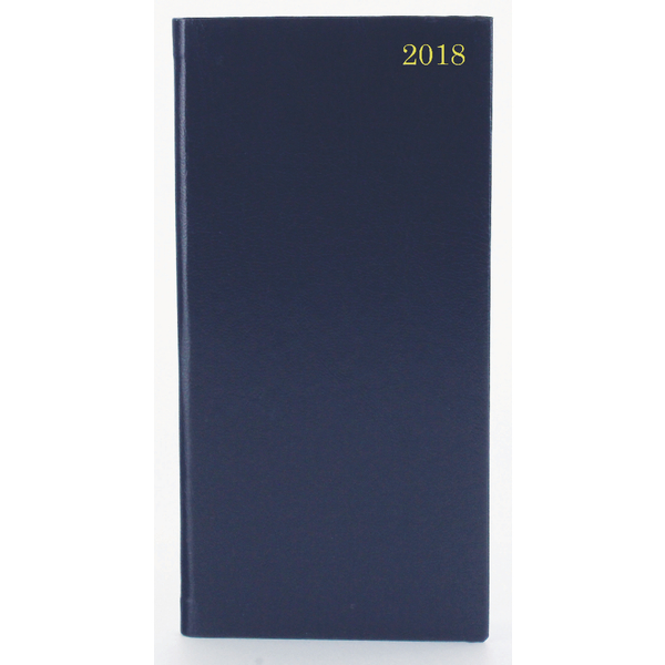 Portrait Blue Slim 2018 Diary Week To View KF1BU18
