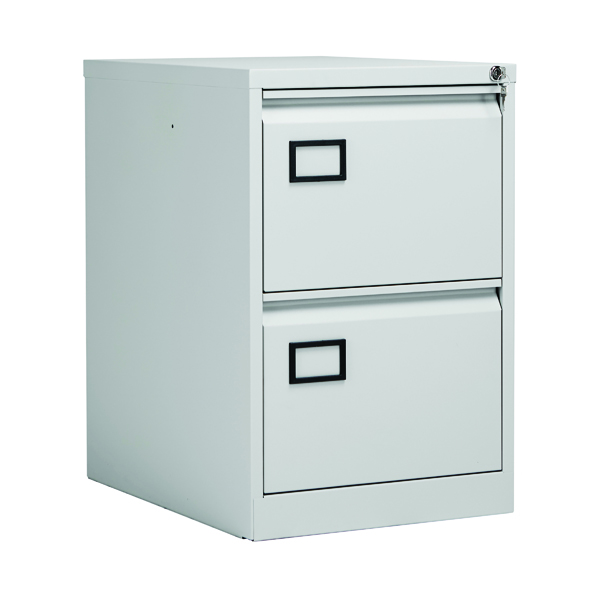 Jemini Grey 2 Drawer Filing Cabinet XK2B