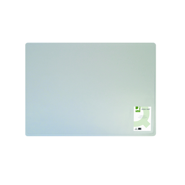 Q-Connect Transparent Desk Mat 400x530mm KF26800