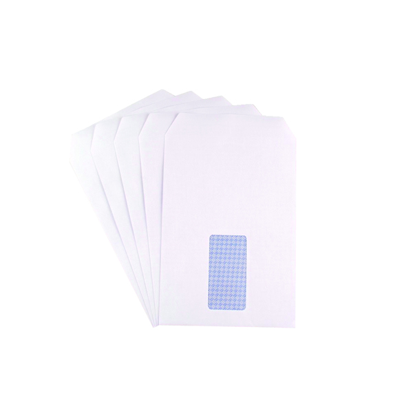 Q-Connect C5 Window Envelope 90gsm Self Seal White (500 Pack) 2820