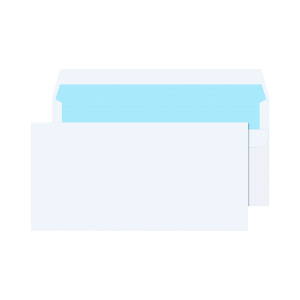 Q-Connect DL Envelope 80gsm Self Seal White (1000 Pack) KF3454