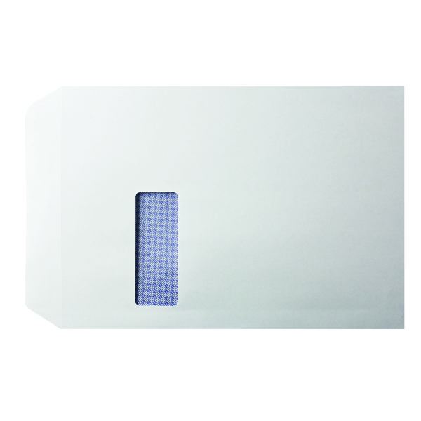 Q-Connect C4 Window Envelope 100gsm White Self Seal (250 Pack) KF3535