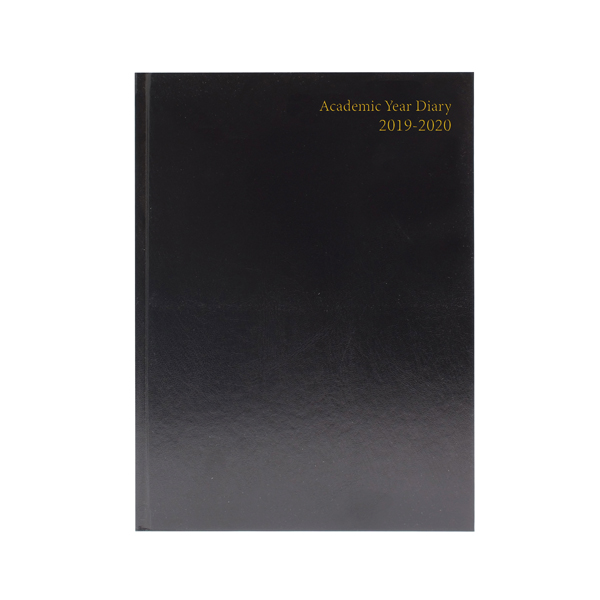 Academic Diary Week to View 2019-20 A4 Black KF3A4ABK19