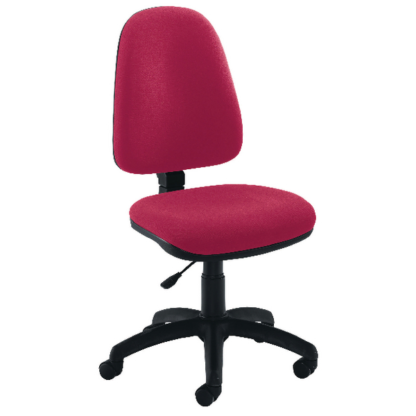 Jemini High Back Operator Claret Chair KF50173