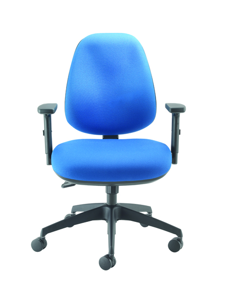 Cappela Wave Radial High Back Posture Chair Blue (Pack of 1) KF71359