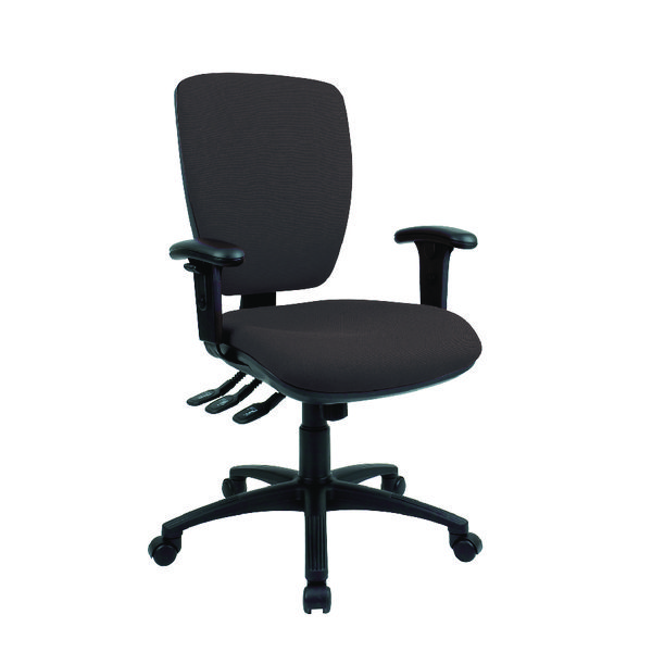 Cappela Wave Square High Back Posture Chair Black (Pack of 1) KF71364