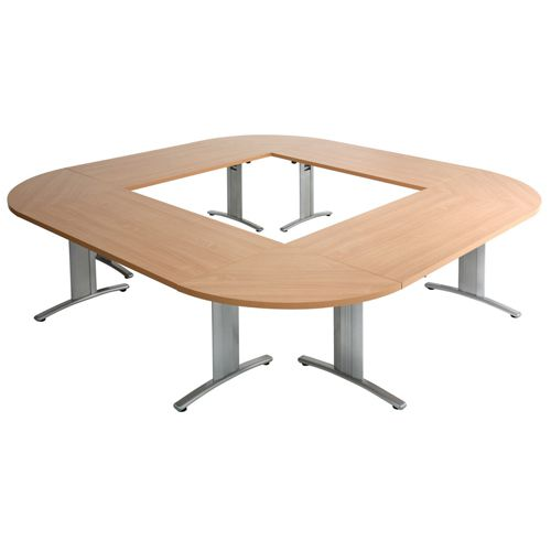 Arista Beech Lightweight Folding Semi-Circular Conference Table 1600x800mm (Pack of 1) KF71405