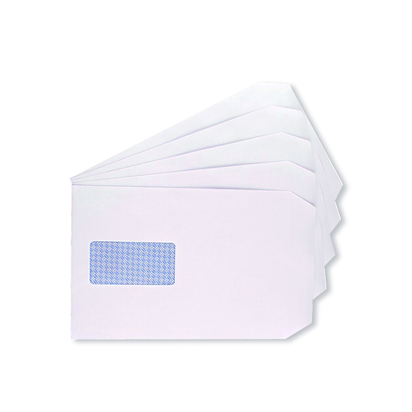 Q-Connect C5 Window Envelope 100gsm Self Seal White (500 Pack) 9007500