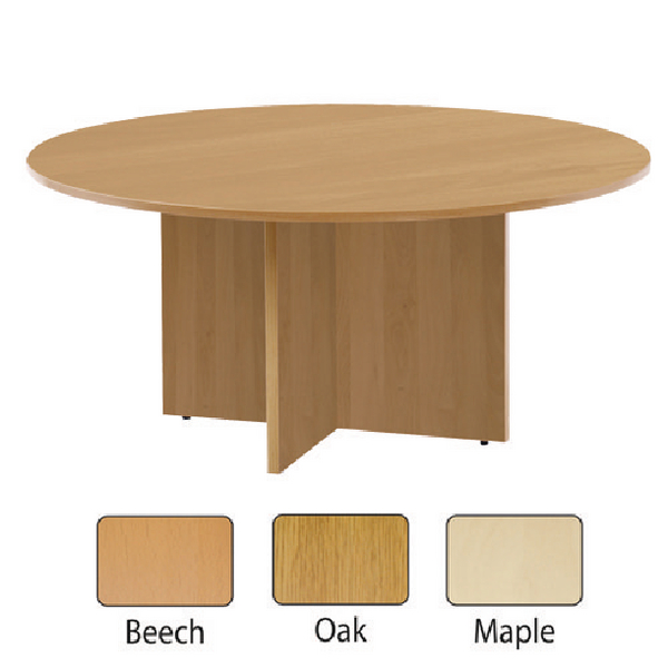 Jemini Beech 1200mm Round Meeting Table KF71952
