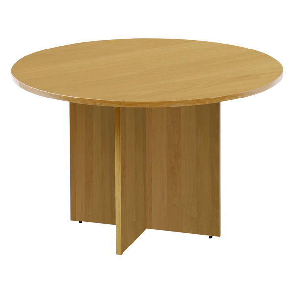 Jemini Oak 1200mm Round Meeting Table KF71953