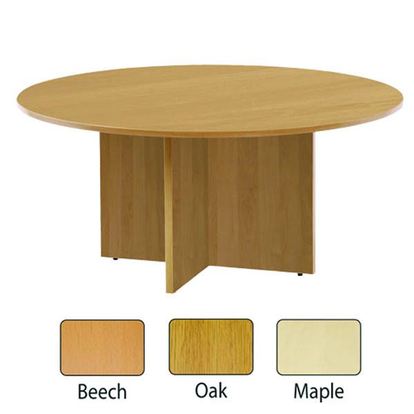Jemini Maple 1200mm Round Meeting Table KF71954