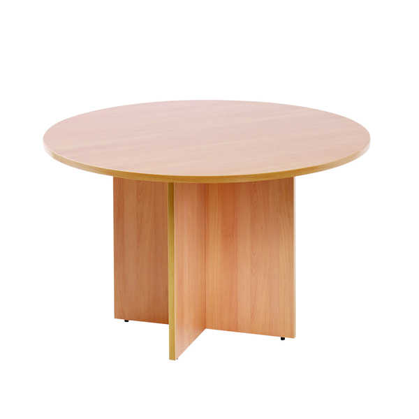 Arista Beech 1200mm Round Meeting Table KF72048