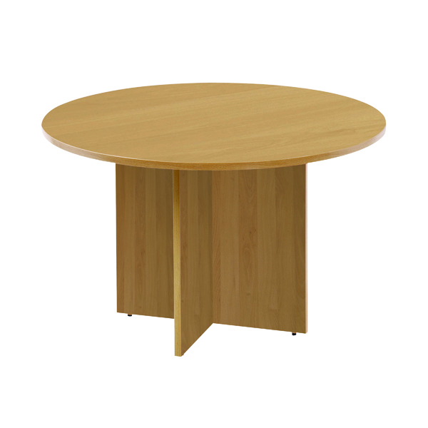 Arista Oak 1200mm Round Meeting Table KF72049